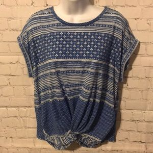 Lucky Brand front knot blouse